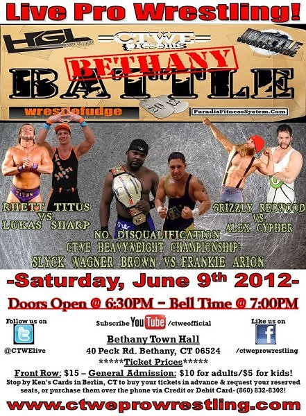 Upcoming Event – 6/9/12 – CTWE Bethany Battle 2012