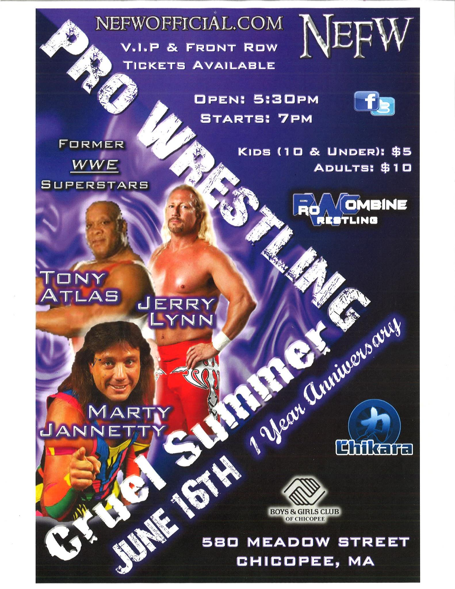 Upcoming Event – 6/16/12 – NEFW – Chicopee, MA